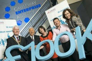 Venture Causeway Champions invest £100.000 in an investment pot to help Coleraine Businesses to start up and grow.